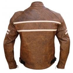 Ultimate Cafe racer black - Stylish leather motorcycle retro jacket