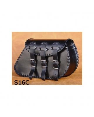 Saddle bags 03 in Plain/Rivets/Rivets+Fringes
