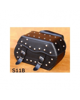 Saddle bags 119 in Plain/Rivets/Rivets