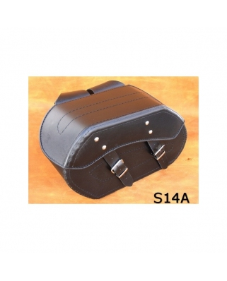 Saddle bags 117 in Plain/Rivets/Rivets