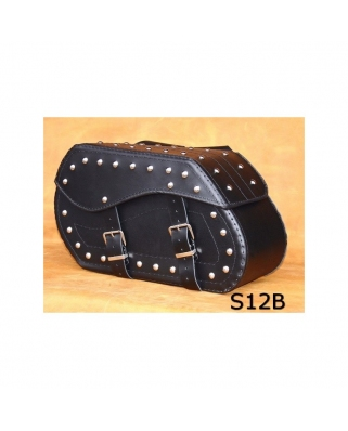 Saddle bags 12 in Plain/Rivets/rivets+Fringes