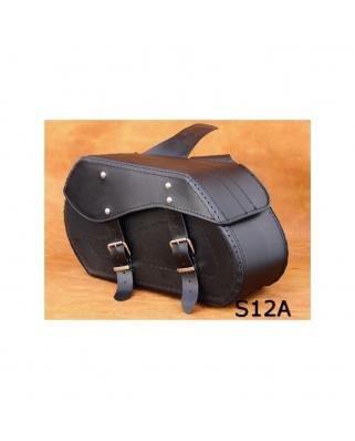 Saddle bags 12 in Plain/Rivets/rivets+Fringes