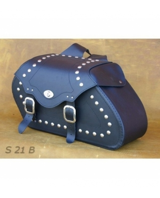 Saddle bags 21 in Plain/Rivets