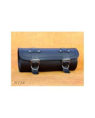 Leather tool roll 36x12cm. Plain/Rivets/Rivets+Fringes
