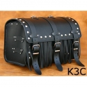 Rear Leather Moto Bag K3 A,B,C - 35 Litres
