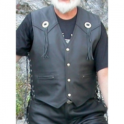 Bikers mode leather vest VP4