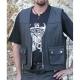 Bikers mode leather vest VP-3