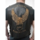 Leather vest Live to ride embossed logo