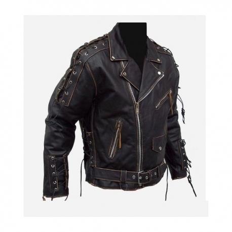Ultimate Rebel - Stylish leather motorcycle brando jacket,chopper,cruiser,harley