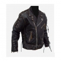 Ultimate Rebel - Stylish leather motorcycle brando jacket,chopper,cruiser,harley