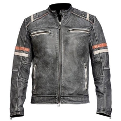 Ultimate Vintage - Stylish leather motorcycle retro jacket