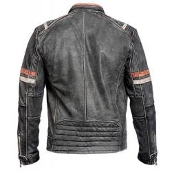Ultimate Vintage - Stylish leather motorcycle retro jacket