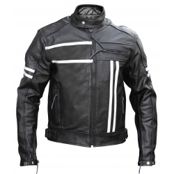 Ultimate Cafe racer black - Stylish leather motorcycle retro jacket