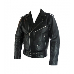 Classic brando black leather jacket