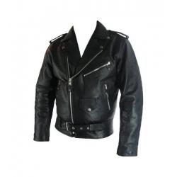 Classic brando black leather jacket