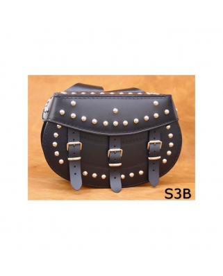 Saddle bags 03 in Plain/Rivets/Rivets+Fringes