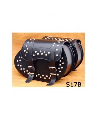 Saddle bags 116 in Plain/Rivets/Rivets+Fringes