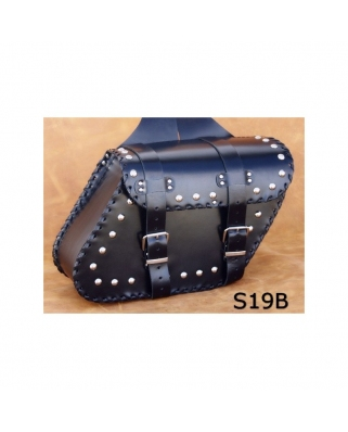Saddle bags 119 in Plain/Rivets/Rivets