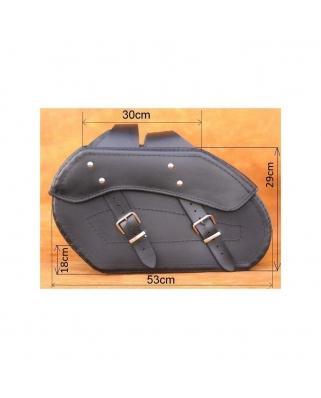 Saddle bags 117 in Plain/Rivets/Rivets