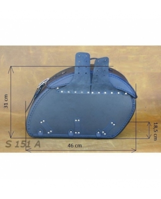 Saddle bags 114 in Plain/Rivets