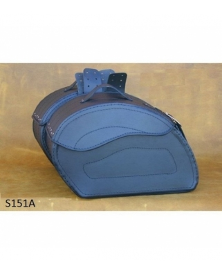 Saddle bags 151 in Plain/Rivets
