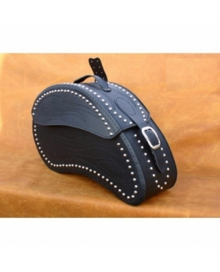 Saddle bags 20 in Plain/Rivets