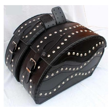 Saddle bags with studs - whole reinforced