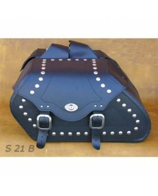 Saddle bags 21 in Plain/Rivets