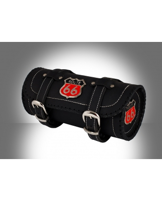 Details about  Route 66 Motorcycle Biker Leather Tool Bag  Roll