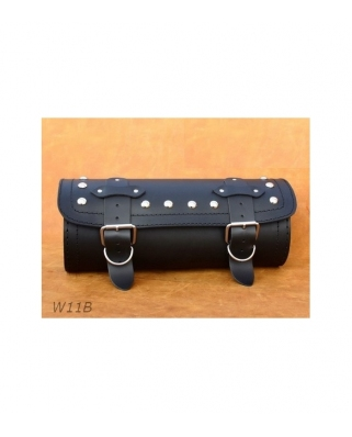 Leather tool roll 36x12cm. Plain/Rivets/Rivets+Fringes