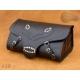 Rear Leather Moto Bag K19